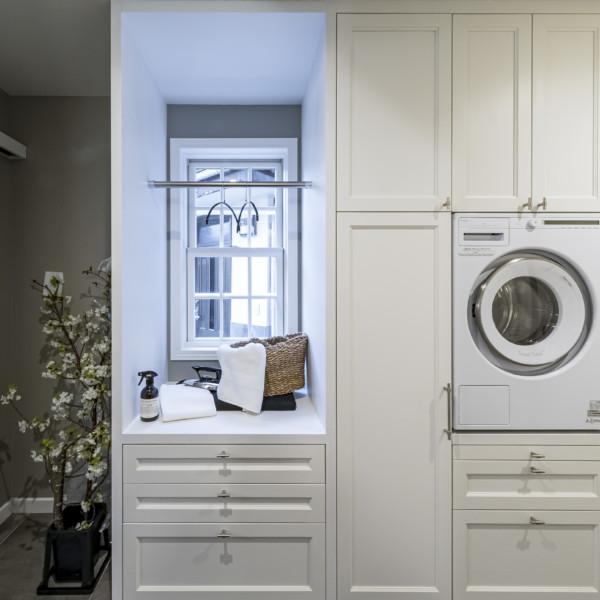 Built-in White Laundry