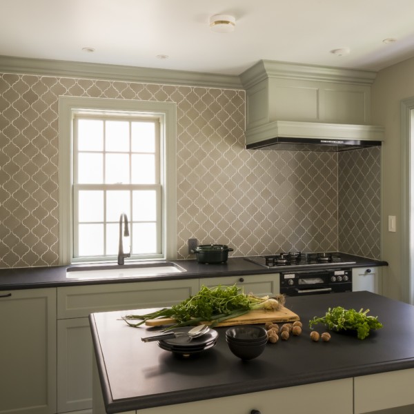 Grayish Green Kitchen