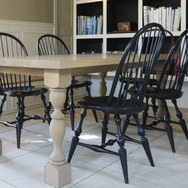 Spindle Oak Dining Table